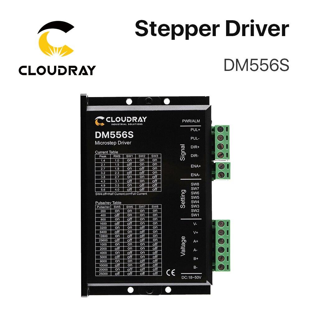 DM556S 2 Phase Stepper Motor Driver 18-50VDC 1.4-5.6A Stepper Motor Controller for Nema17 Nema23 Nema34